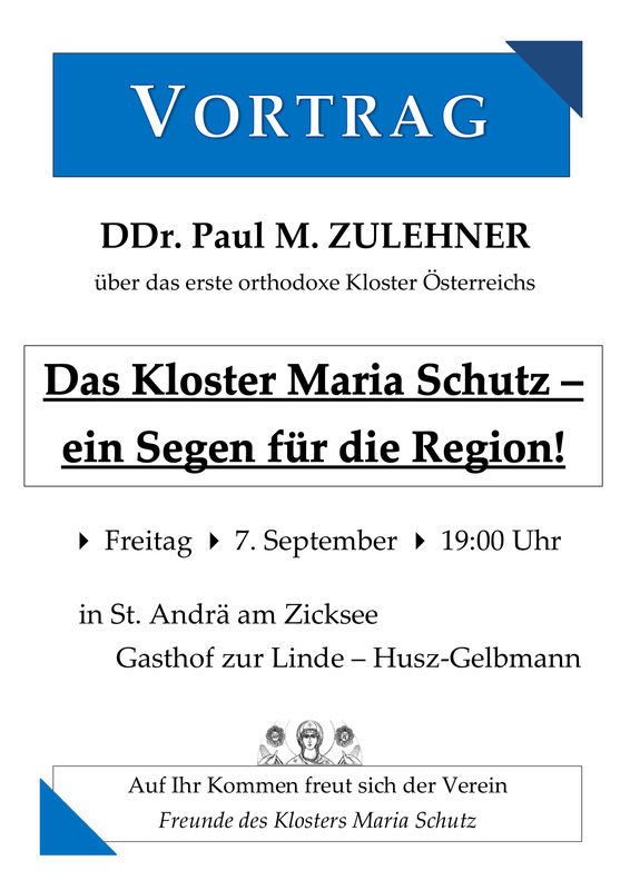 Plakat Vortrag Prof. Paul Zulehner 2018