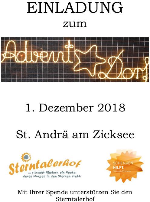 Einladung Advent im Dorf 2018 Seite 1